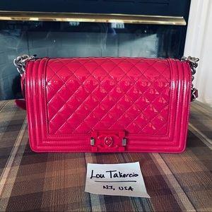 Chanel Boy Pink Quilted Medium Plexiglass Bag